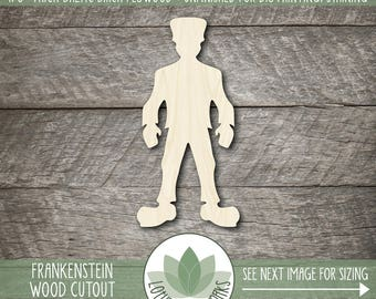 Frankenstein Laser Cut Wood Shape, Frankenstein Wood Cut Out, Halloween Party Decor, Halloween Crafting Supply, Many Size Options
