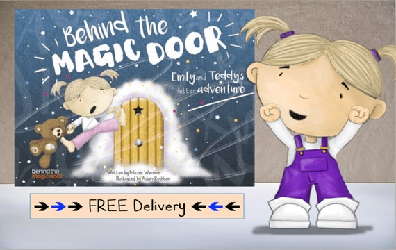 Personalised childrens book behind the magic door ideal like this item negle Image collections