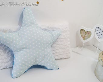 AVAILABLE * Blue cloud shaped cushion