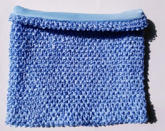 STRAPLESS stretch 2 to 6 years old Double Blue crochet for making TUTU dress