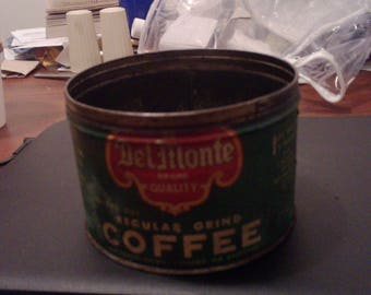 lot 2/regular grind delmonte vintage coffe tin