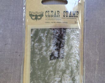 Prima trunk tree bark background clear stamp