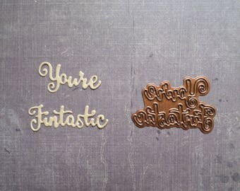 Die cut Stencil Creative word you're Fintastic English lighthouse