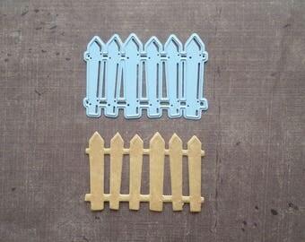 Die Stencil Creatables garden fence wood