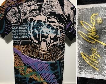 Vintage Magic Johnson All Over Print Chicago Bears Tee L