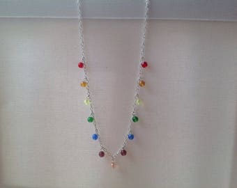RAINBOW COLLECTION- Sterling silver charm necklace