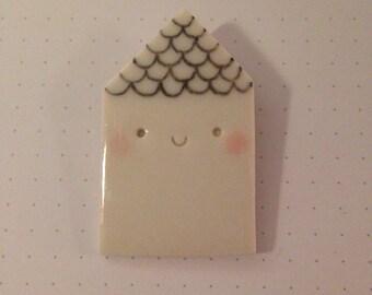 Porcelain House pin