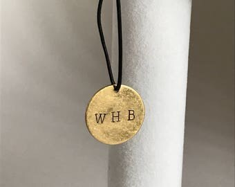 Customized Stamped Disk Charm/Gold Charm/Silver Charm/Rose Gold Charm/Custom Gold Charm/Custom Silver Charm/Custom Rose Gold Charm/Custom