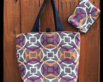 Grey and Pink Bag
