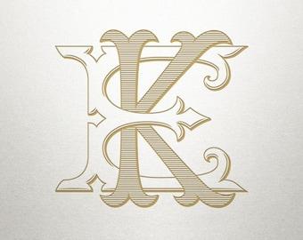 Wedding Monogram Logo - EK KE - Monogram Logo - Digital