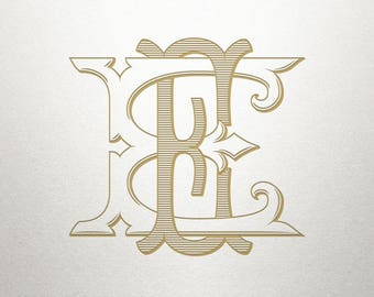 Custom Wedding Monogram - EE - Wedding Monogram - Vintage