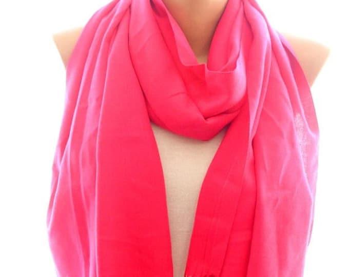 Pink pashmina scarf, pashmina shawl, scarves for women, soft scarf, cozy scarf, trendy scarf