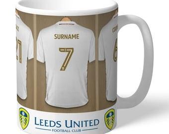 Leeds United FC Personalised Dressing Room Mug