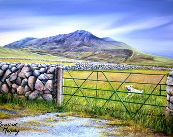 Running Home in the Mournes (print of original acrylic painting)