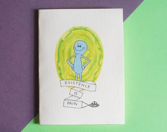 Mr. Meeseeks Rick and Morty Card