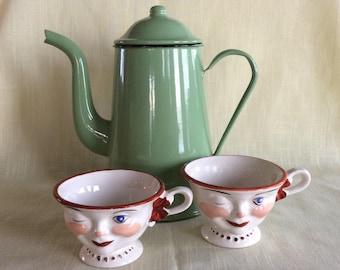 Vintage 1950 Ridgway Lipton tea promotional cups Stafforshire England mug