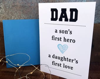 Father's day card,love, hero, greeting card