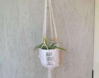 Cotton macrame plant hangers