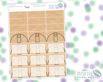 Basketball Half & Quarter Boxes ~ Planner Stickers