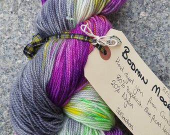 Hand dyed BFL sock yarn 100g Bodmin Moor