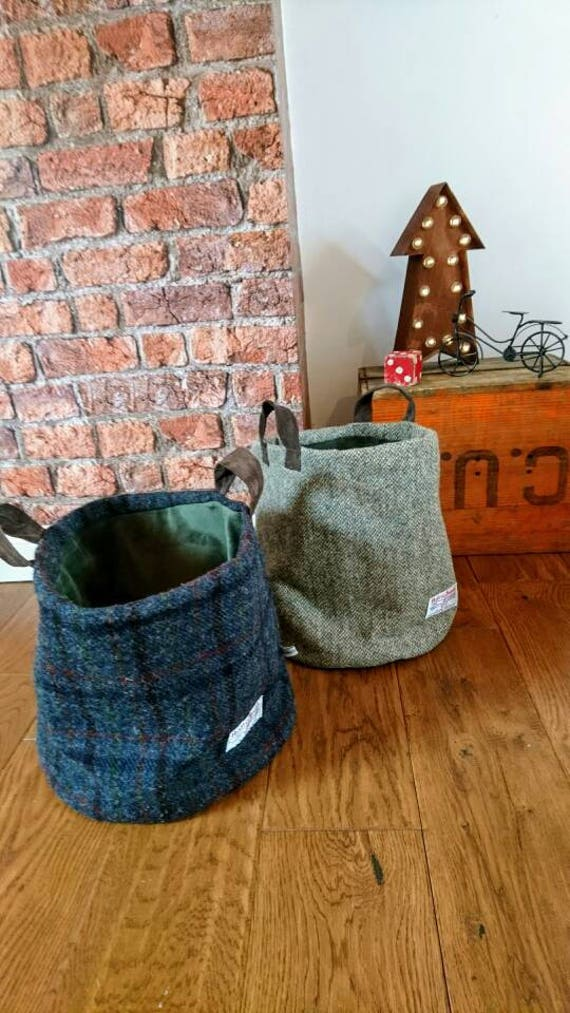 Sold Out Hand Crafted Harris Tweed storage bag
