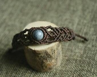 Macrium bracelet, macrium jewelry with sodalite bead
