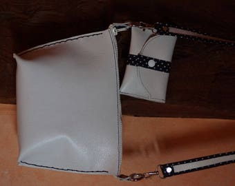 small shoulder bag with leather