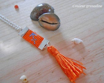 Woven necklace astrological sign Sagittarius, gift idea mother grandmother, Easter