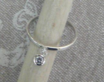 """Silver tassel ring """"Shiny"""""""