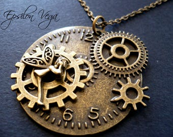 Tinker Bell Steampunk necklace
