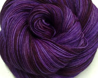 Superwash Merino/Nylon Sock Yarn - 75/25 - Kettle Dyed - approx. 463 yards - 100 grams - STOMPING THE GRAPES