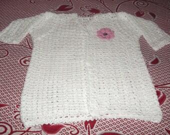 white mixed 4/5 years crochet sleeves