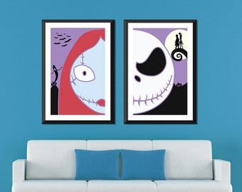 Nightmare Before Christmas Minimalist: Jack & Sally Set