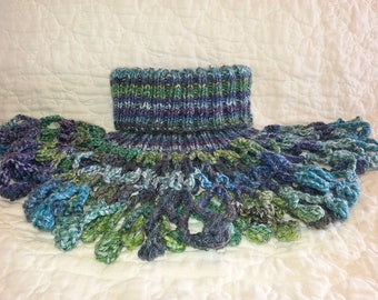 Knitted Neck Warmer / Turtleneck Cowl