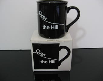 "Vintage 1986 Hallmark Mug - ""Over The Hill"" New in Box!"