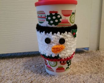 Snowman Coffee Cozy