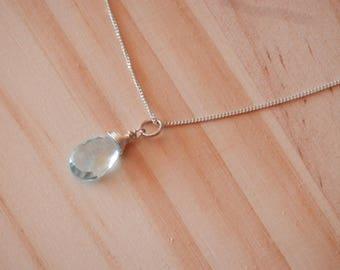 Sky blue topaz necklace November birthstone jewelry November birthday gift Necklace topaz pendant necklace topaz silver earrings topaz earri