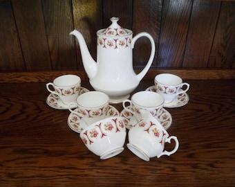 Vintage Sheltonian Bone China Coffee Set