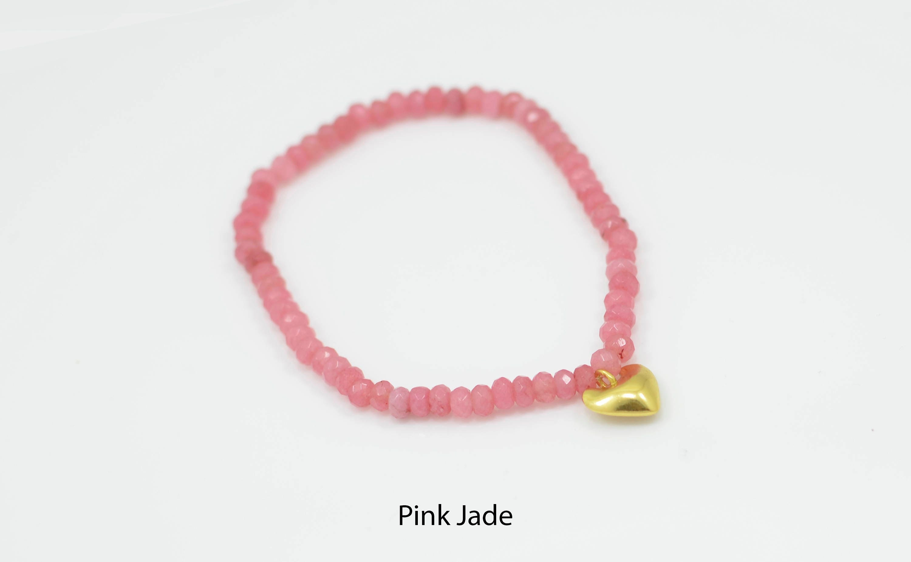 bracelet jewellery gold heart bali joy products pink fluor resin bamba