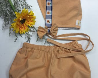 Sunflower Bonnet / Bloomer Set