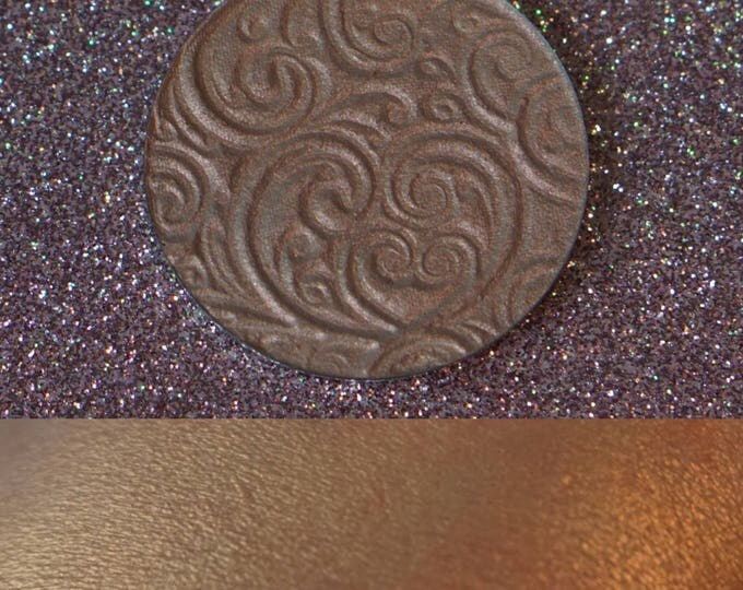 Pumpkin King - ivory base with bright copper shift pressed highlighter 37mm and 44mm pan options
