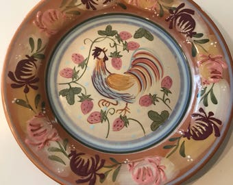 8 1/2 inch Chanticleer by Zrike Danna Cullen Design Rooster  Plate