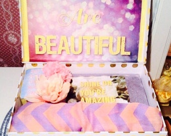Back to School YouAreBeautifulBox College Care Package. High School Care Package. School Care Package. Back to School Care Package