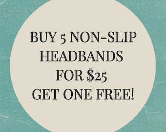 Buy 5 No Slip Headbands For 25 Get One Free