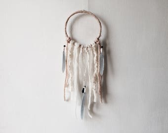 "Aura Dream Catcher 5"", DreamCatcher, Small, Quartz Crystal, Wall Hanging, Wall Decor, Boho Decor, Boho Wedding, Baby Shower"
