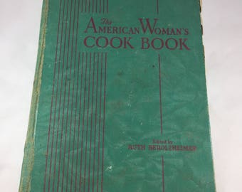 American Woman's Cook Book - Vintage Cook Book - 1930s Cook Book - Vintage Kitchen - Vintage Recipes - 1939 Edition - Pre War Cookbook