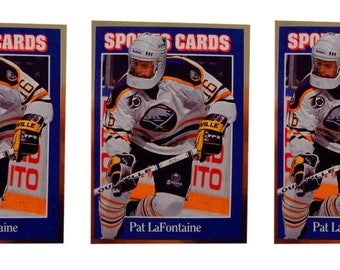 5 - 1992 Sports Cards #142 Pat LaFontaine Hockey Card Lot Buffalo Sabres