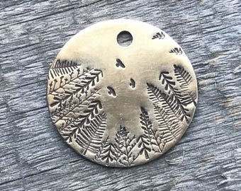 Dog Tags, Trees and Birds Dog Tag, Personalized Dog Tag, Pet Id Tag, Custom Dog Tag, Pet Supplies, Designer Dog Tag, Metal Hounds Dog Tag