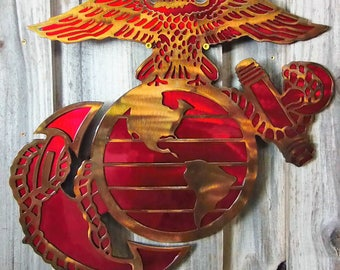 Marine Corps Metal Art