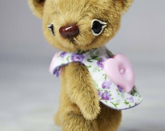 Artist miniature teddy bears small plush stuffed bears toy